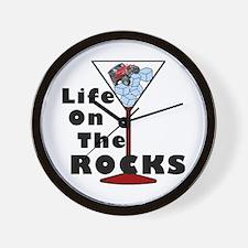 On Rocks Martini Wall Clock