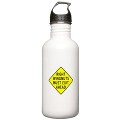 Right Wingnuts Must Exit Ahea Water Bottle