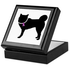 Siberian Husky Breast Cancer Keepsake Box