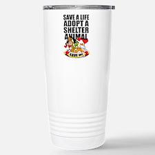 Save A Life Adopt Stainless Steel Travel Mug