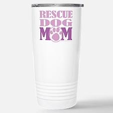 Rescue Dog Mom Stainless Steel Travel Mug