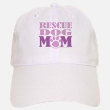 Rescue Dog Mom Baseball Baseball Cap