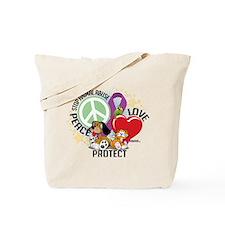 Stop Animal Abuse PLP Tote Bag
