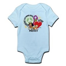 Stop Animal Abuse PLP Infant Bodysuit