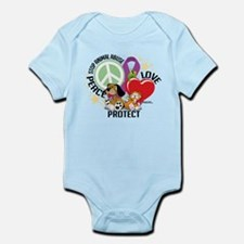 Stop Animal Abuse PLP Infant Bodysuit