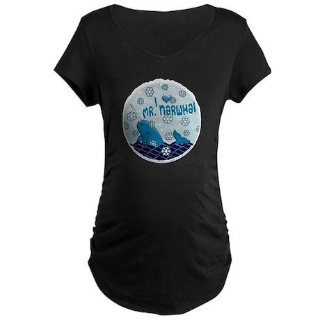 I LOVE MR. NARWHAL Maternity Dark T-Shirt