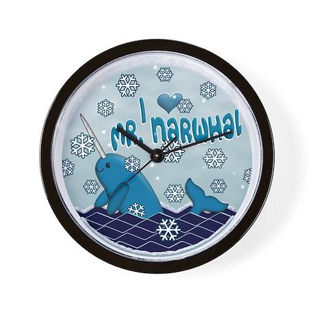 I LOVE MR. NARWHAL Wall Clock