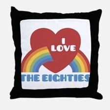 I Love Eighties Throw Pillow