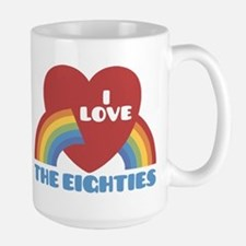 I Love Eighties Large Mug