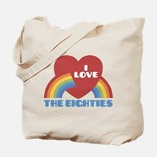 I Love Eighties Tote Bag