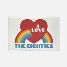 I Love Eighties Rectangle Magnet