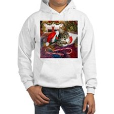 Candy Cane Cat Hoodie