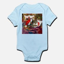 Candy Cane Cat Infant Bodysuit