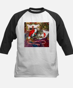 Candy Cane Cat Tee