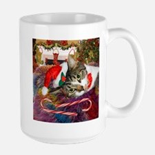 Candy Cane Cat Mug