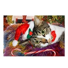 Candy Cane Cat Postcards (Package of 8)