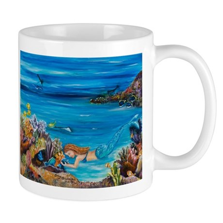 Mermaid tending her fish Mug