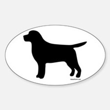 Black Lab Silhouette Decal