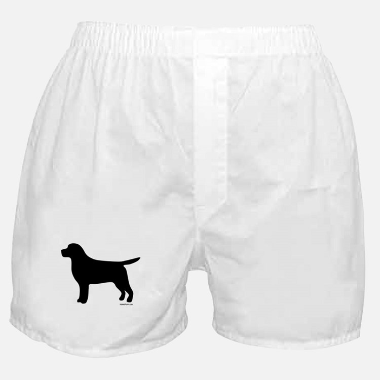 Black Lab Silhouette Boxer Shorts