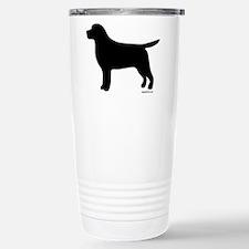 Black Lab Silhouette Travel Mug