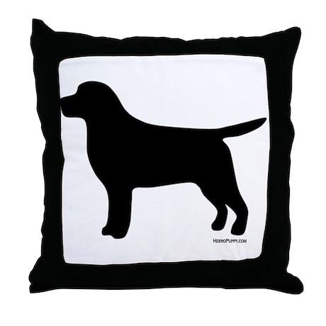 Black Lab Silhouette Throw Pillow