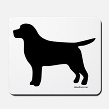 Black Lab Silhouette Mousepad