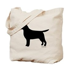 Black Lab Silhouette Tote Bag
