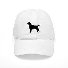 Black Lab Silhouette Baseball Cap