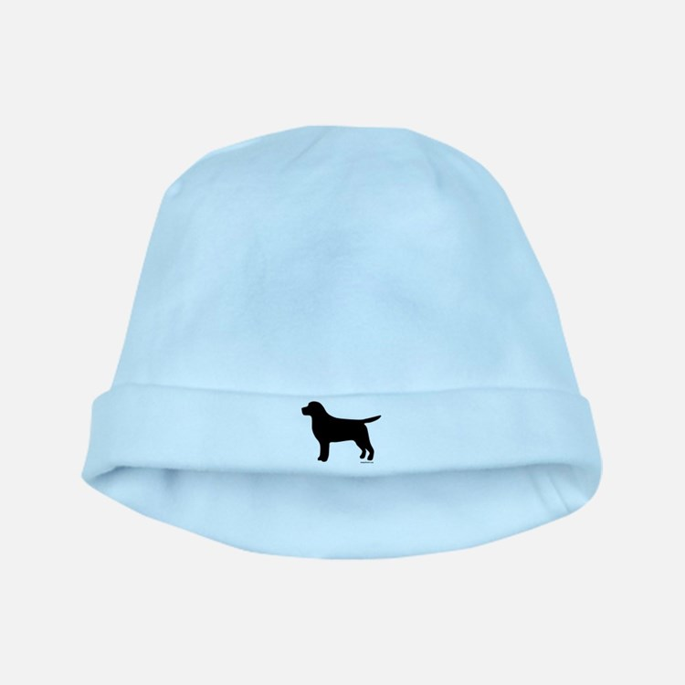 Black Lab Silhouette baby hat