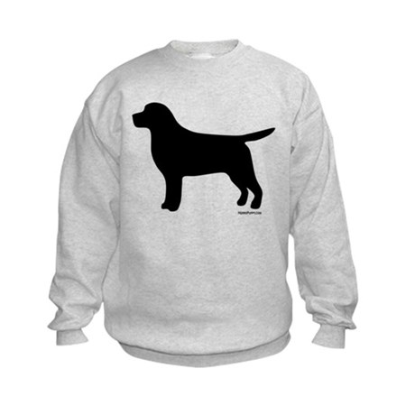 Black Lab Silhouette Kids Sweatshirt