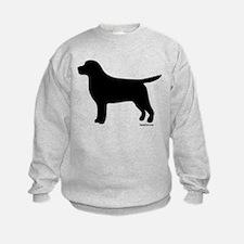 Black Lab Silhouette Sweatshirt