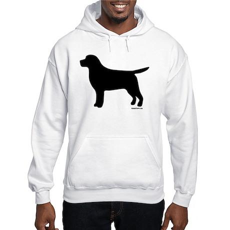 Black Lab Silhouette Hooded Sweatshirt