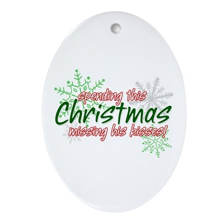 Spending this Christmas Ornament (Oval)