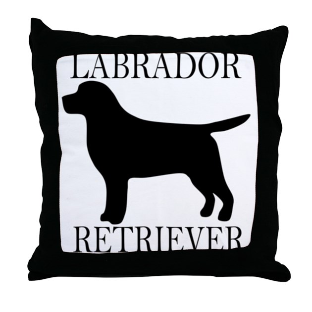 Black Lab Throw Pillow : Black Labrador Retriever Throw Pillow by HerroPuppy