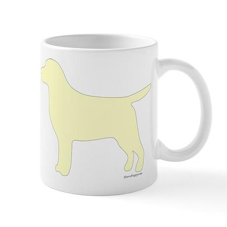 Yellow Lab Silhouette Mug