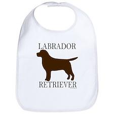 Chocolate Labrador Retriever Bib