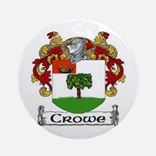 Crowe Coat of Arms Ornament (Round)