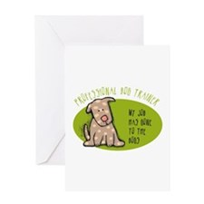Funny Dog Trainer Greeting Card