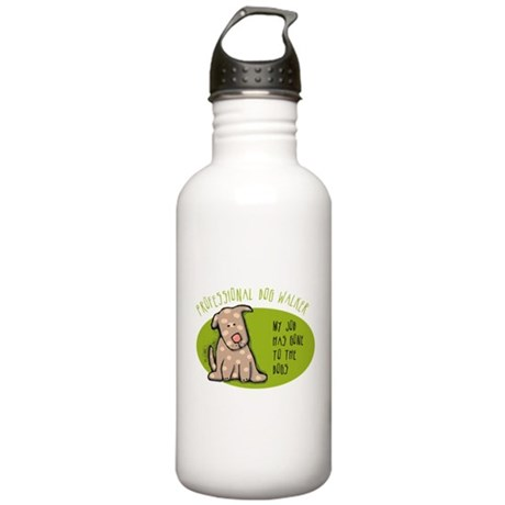 Funny Dog Walker Stainless Water Bottle 1.0L