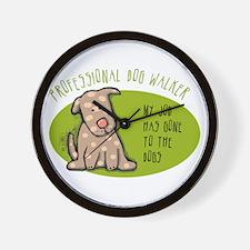 Funny Dog Walker Wall Clock