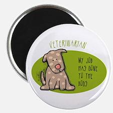 "Funny Veterinarian Job 2.25"" Magnet (100 pack)"