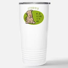Funny Veterinarian Job Travel Mug