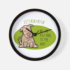 Funny Veterinarian Job Wall Clock