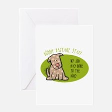 Funny Doggie Daycare Greeting Card