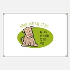 Funny Doggie Daycare Banner