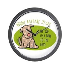 Funny Doggie Daycare Wall Clock