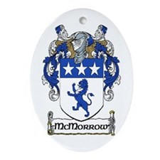 McMorrow Coat of Arms Oval Ornament