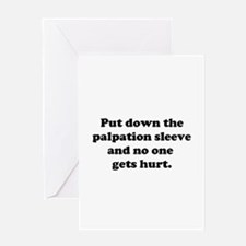 Palpation Sleeve Greeting Card