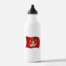 Wavy Laos Flag Water Bottle