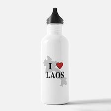I Love Laos Water Bottle